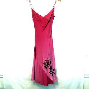 Betsey Johnson Vintage 90s Pink Silk Slip Dress 4
